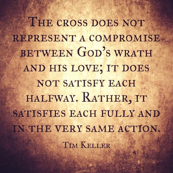 The Cross Satisfies